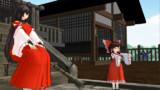 昔の博麗神社