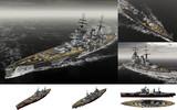 MMD用モブ超弩級戦艦1942(キングモーヴ5世)セット