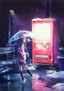 自販機と女の子