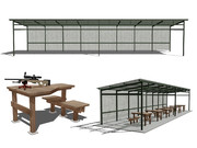 トタン屋根(ロング)とシューティングベンチ