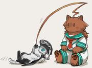 釣られる子猫ヲ級