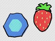 六角形とイチゴ
