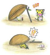 卵かけご飯トラップにゃんこ