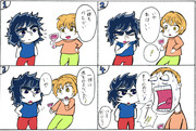 聖闘士星矢【一輝】4コマ漫画