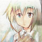以前描いたチノちゃんの絵をPaintsChainerで着色
