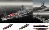 MMD用モブ超弩級戦艦1940(モブリオ)セット