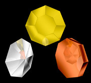 金、銀、銅の八角形