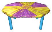 八角形のテーブル