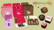 【MMDアクセサリ配布】艦名チョコレートセット