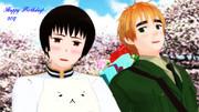 【APヘタリアMMD】桜の国で、おめでとう!【祖国誕2017】
