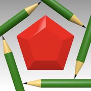 ペンペン (ペンシル(鉛筆)とペンタゴン(五角形))