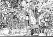 2B鉛筆で結月ゆかり描いてみた【その41】+琴葉茜+弦巻マキ+琴葉葵