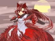 満月の夜の狼