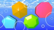 五角形、六角形、七角形、八角形、水中