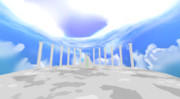 光帯のある空スカイドーム