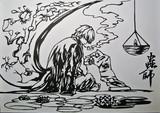 【切り絵】蟲師 ギンコ
