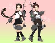 【MMD艦これ】綾波・敷波(Ver3.1a)【モデル配布】