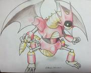 ドラゴンマシン(色鉛筆)