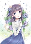 雨粒と紫陽花