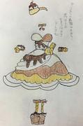 純喫茶スワロウのチョコパフェをドレス化