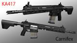 【小銃】KA417  Carnifex  / カルニフェクス【MMD武器】