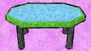 八角形のテーブル2