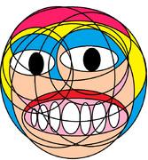 円だけでナナコちゃん描いたらヤバいクリーチャーになった