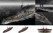 MMD用モブ弩級戦艦1914(モーヴッヒ)セット