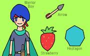 WASH (Warrior-boy, Arrow, Strawberry, Heptagon)