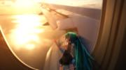 ちっちゃいミクの初飛行。