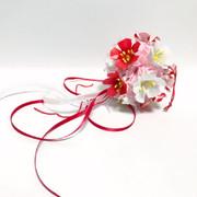 ☆折り紙☆梅のくすだま☆紅白バージョン☆