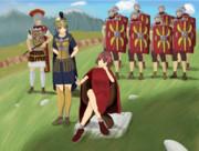 「ハルリウス・アマミア帝とその腹心チハニス将軍のある日の風景」