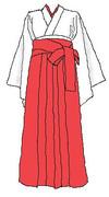 この前描いた女袴を巫女風にアレンジ