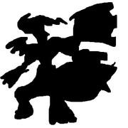 ゼクロム(影絵)
