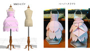 【MMD】桜ジャンパースカートのモデルとペーパークラフトのセット【アクセサリ配布】