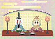 雛飾り ニコル雛とナナコ雛