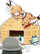 猫ちぐらとサーバル2