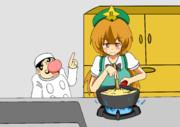 知り合いの中国人に料理を教わる美鈴さん