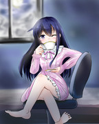 暁ちゃん、夜中に紅茶なんて飲んで大丈夫?