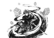 【今日の1枚】太刀川慶を筆ペンで描いてみた