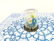 ★折り紙★クイリング★ミニチュアブーケ☆小瓶入り♪★ブルー☆