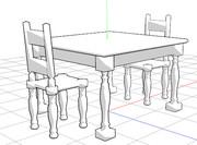【MMDモデル配布】テーブルセット