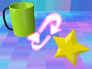 マグカップ、ループ、星