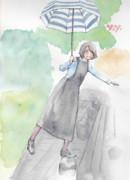 ジャンパースカート(模写・水彩)