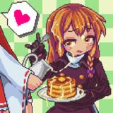 パンケーキに特製シロップをかけてもらうRI姉貴