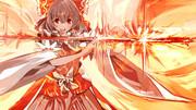 邪剣を清める日本の母
