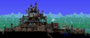 【Terraria】高台に佇む城と城下町【建築】