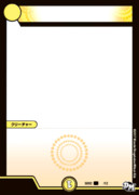 【素材】光文明クリーチャーカード枠