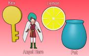 鍵、天使勇者、レモン、ツボ