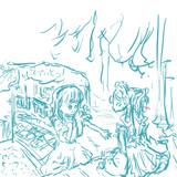 レイアリ安価絵生放送にて。 お題:夏祭り